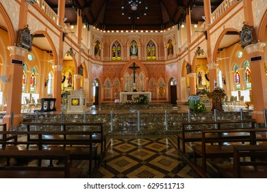 CHANTHABURI THAILAND , MAY 16, 2017 : The Cathedral of the Immaculate Conception is a Catholic Church and is located in the city of Chanthaburi Thailand.