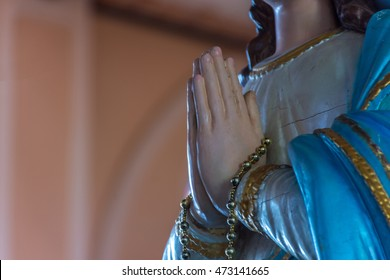 Chanthaburi, Thailand - May 6, 2016 : The Virgin Mary statue at The Cathedral of the Immaculate Conception is a Roman Catholic Diocese of Chanthaburi.