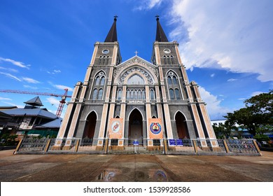 Chanthaburi, Thailand -October 13, 2019 : Catholic Church Chanthaburi or Cathedral of the Immaculate Conception the famous Mary Church in Mueang District