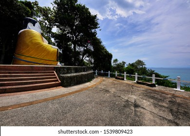 Chanthaburi, Thailand - October 14, 2019 : Phra Sangkachai Viewpoint one of Hat Khung Wiman Viewpoint located in Na Yai Am District
