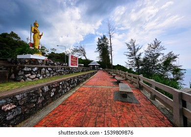 Chanthaburi, Thailand - October 14, 2019 : Phra Yuen Viewpoint one of Hat Khung Wiman Viewpoint located in Na Yai Am District