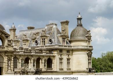 Chantilly castle view, Il-de-France, Paris region, France