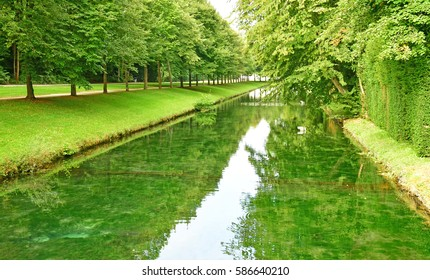 Chantilly, France - august 14 2016 : park of the castle of Chantilly