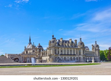 Chantilly, France - May 16, 2017: Chateau de Chantilly, France