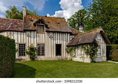 CHANTILLY, FRANCE - MAY 22ND, 2018. rustic maisonnette of aspect located in the park of the Castle.