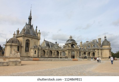 CHANTILLY, OISE / FRANCE - AUGUST 30 2014:  The Chateau de Chantilly is a historic chateau located in the town of Chantilly, France, about 50 kilometers north of Paris