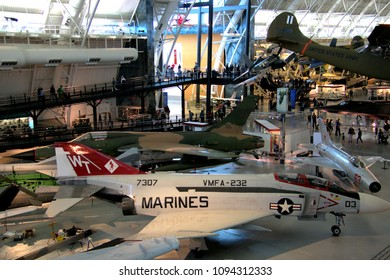 Chantilly, Virginia / USA -May 19 2018: Smithsonian National Air and Space Museum Steven F. Udvar-Hazy Center