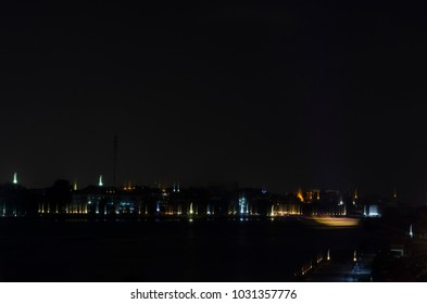 Chao Phraya River side at night