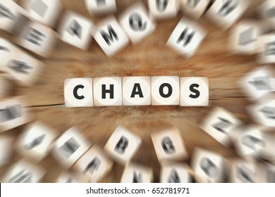 Chaos disorder order office dice business concept idea