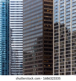 chaotic shadows on chicago buildings