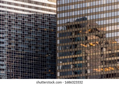 chaotic shadows on new york buildings