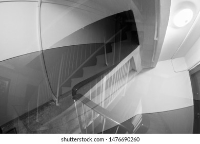 Chaotical lines, abstract black and white background