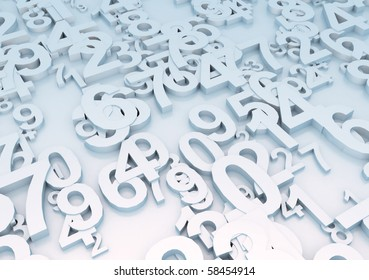 Chaotically placed numbers