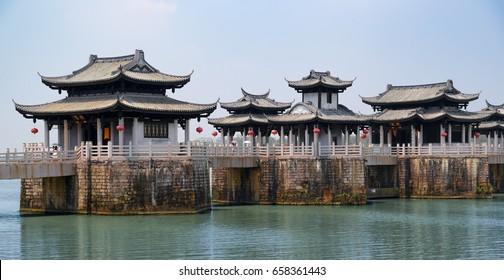 Chaozhou Guangji (Xiangzi) bridge at Chaozhou town, Guangdong, China.