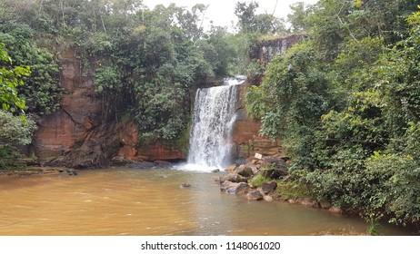 Chapada dos Guimarães, Brazil. June 2018. Valentine's Waterfall, inside the Chapada dos Guimarães National Park.