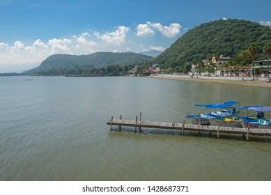 Chapala, Jalisco/MEXICO: Aug 18 2018> A view of the Chapala Lake ina beautiful sunny day.