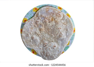 Chapatti bread isolated on the white background