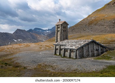Chapel of all prudence at the top of the Iseran pass in the Alps in France