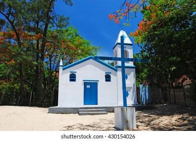 Chapel in Aramacao beach, Ilhabela
