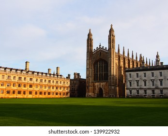 The Chapel and Back Lawn of King's College, part of the University of Cambridge.