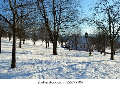 Chapel in the black forest in winter
