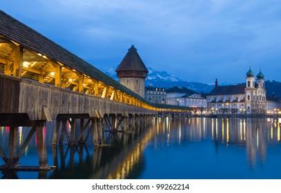 Chapel Bridge of Luzern in Switzerland