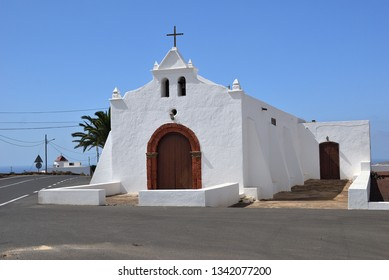 Chapel or church on Fuerteventura island, Canary islands. Spain