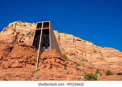 The Chapel of the Holy Cross, built into the buttes of Sedona, Arizona.