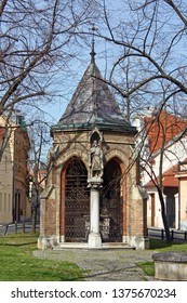 Chapel of the Holy Cross on the Illyrian Square from 1893.g. in Upper Town in Zagreb, work by Herman Bolle