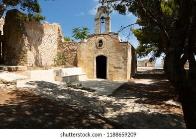Chapel inside the fortesss in Rethymno on Crete, Greece
