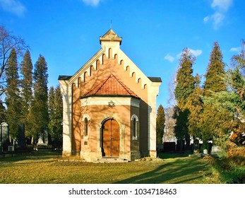 Chapel of the Jewish Religious Community at the Central Cemetery of the City of Olomouc in the Czech Republic