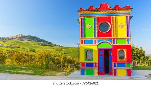 Chapel in La Morra, Piedmont, north Italy
