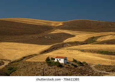 Chapel in Lemnos island, Greece Chapel in the fields