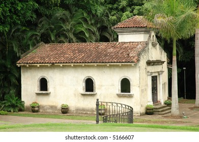Chapel with Lush Tropical Grounds in Costa Rica's Capital City, San Jose