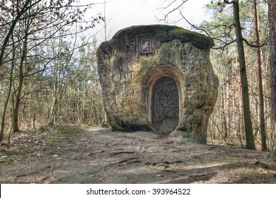 The Chapel of Mary Magdalene - chapel carved from a single piece of a huge sandstone boulder created by sculptor Vavlav Levy about 1840