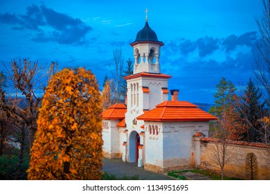 chapel and monastery in the autumn