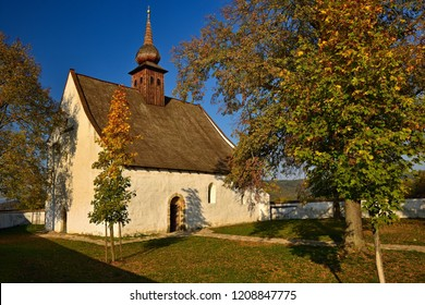 The Chapel of the Mother of God. City of Brno, Czech Republic - Europe. Beautiful autumn landscape. Brno dam and sunset at the golden hour. Autumn season October.