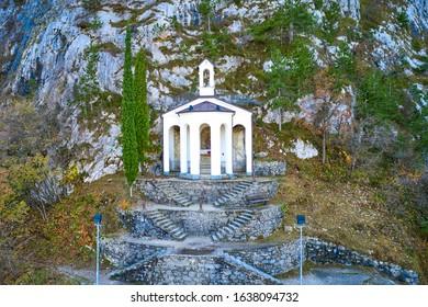 Chapel from mount of  Riva del Garda, A small church located on the mountain near Riva del Garda, near Lake Garda in northern Italy