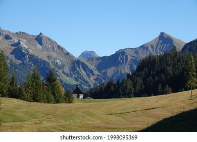 Chapel near Sonntag-Stein in Vorarlberg  - Shutterstock ID 1998095369