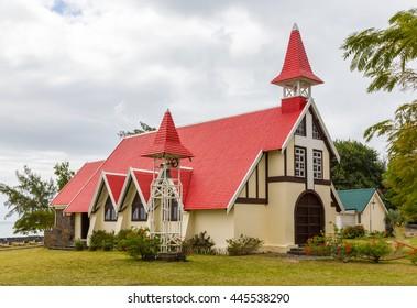 Chapel Notre Dame Auxiliatrice at Cap Malheureux Mauritius.