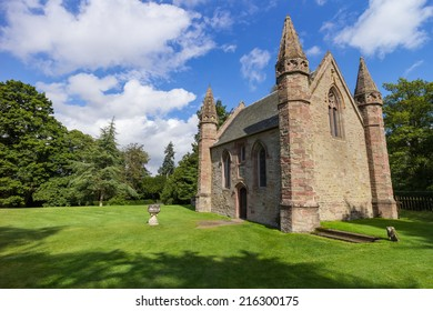 Chapel on Moot Hill, next to famous Scone Palace, where all Scottish kings and queens have been crowned at the Stone of Destiny