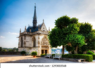The Chapel of Saint Hubert in Amboise by the River Loire, France, the Tomb of Leonardo da Vinci