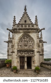 The chapel of Saint-Hubert at the Chateau d'Amboise, burial place of Leonardo da Vinci.