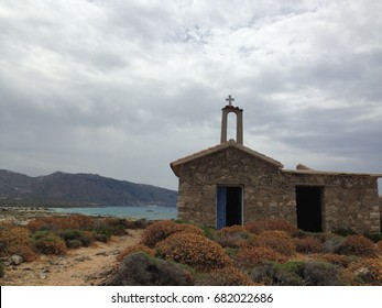 Chapel and seaview in Crete