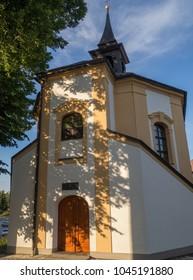Chapel of St. Barbora built in 1729 according to the design of the architect Jan Blazej Santini -Aichel on the Havlickovo Square in Zdar nad Sazavou, Czech republic