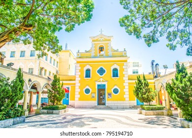 Chapel of St. Francis Xavier in Coloane Village on Taipa Island, Macau