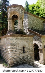 Chapel of St. Zabulon and Sosana and house St. Nino's spring in monastery of St. Nino at Bodbe. Sighnaghi, Kakheti, Georgia