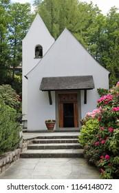 The Chapel at Bürgenstock, Switzerland. Wedding place of Audrey Hepburn and Mel Ferrer in 1954