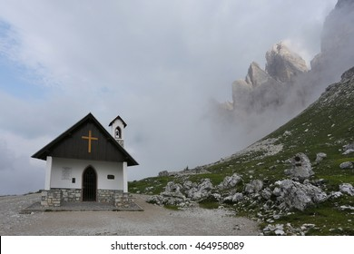 Chapel At Tre Cime di Lavaredo In Dolomites