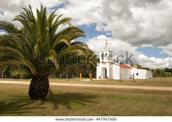 chapel in village Eden, Uruguay
